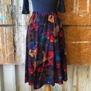 Dresses & Skirts - Vintage Multi-color Trumpet Skirt SZ 4/6